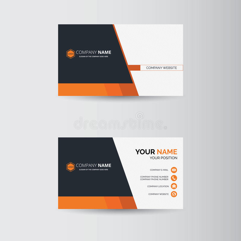 Business card. Simple geometric template for business card vector illustration