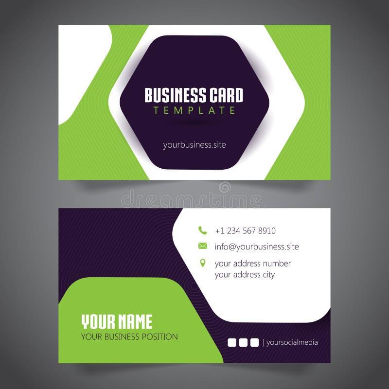 Business Card Simple Minimalis. Vector Template. Bla vector illustration