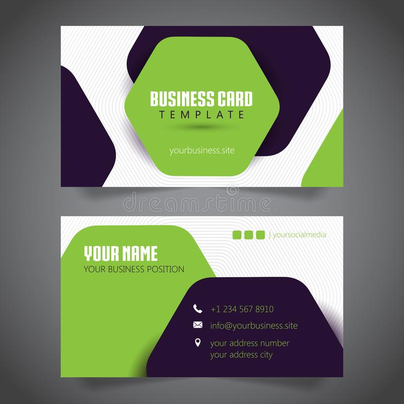 Business Card Simple Minimalist. Vector Template. Bla royalty free illustration