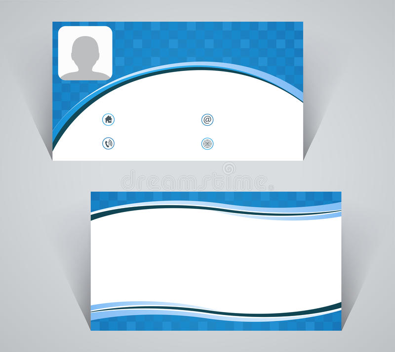 Business Card, Simple Pattern Of Blue Color Stock Vector ...