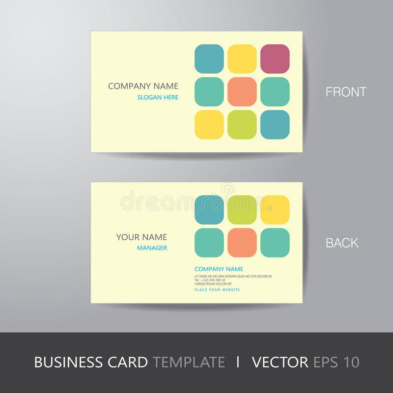 business card square abstract background design layout template
