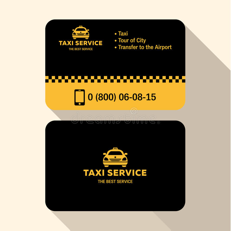 Business Card Taxi Driver, Flat Modern Trendy Stock Vector - Image ...