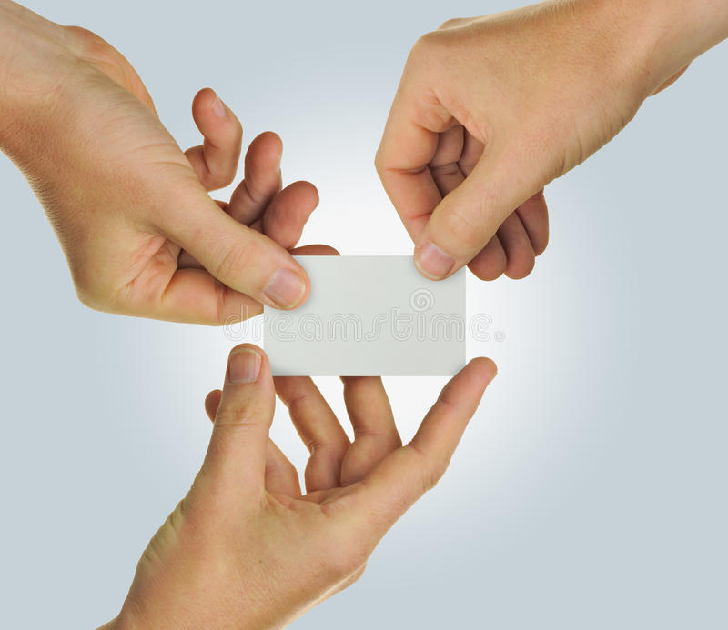 Download Business card teamwork stock image. Image of joint, team - 26789855