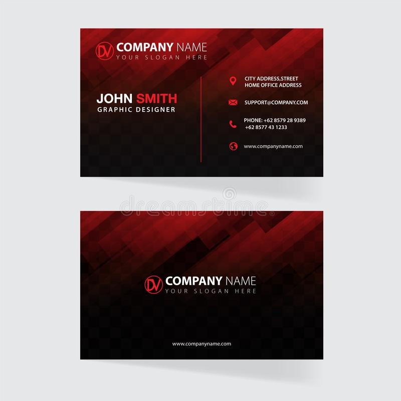 Business card template concept vector. Business card template concept with sample text and abstract background stock illustration