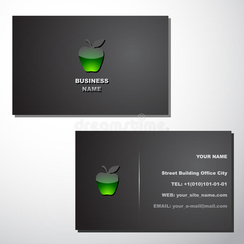 Business card template royalty free illustration
