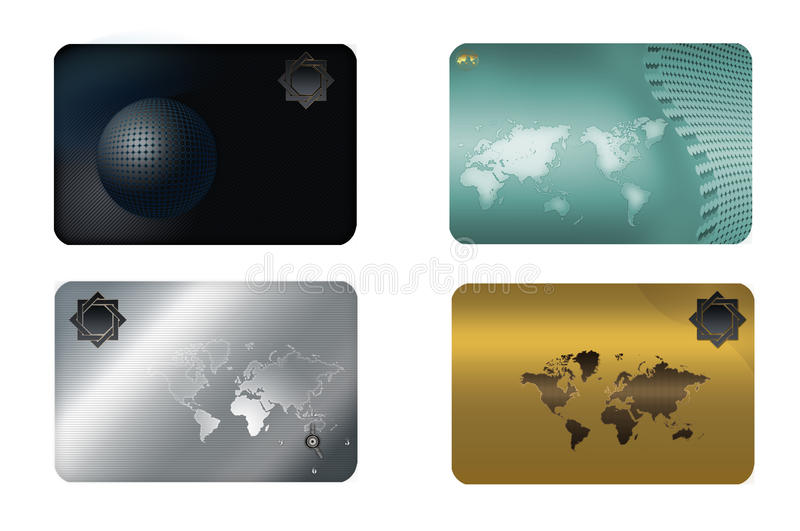 Business card template. royalty free stock photography