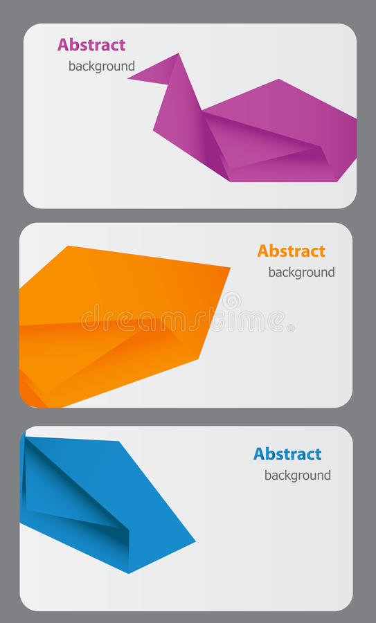 Download Business Card Template. Abstract Background Stock Vector - Image: 24088283