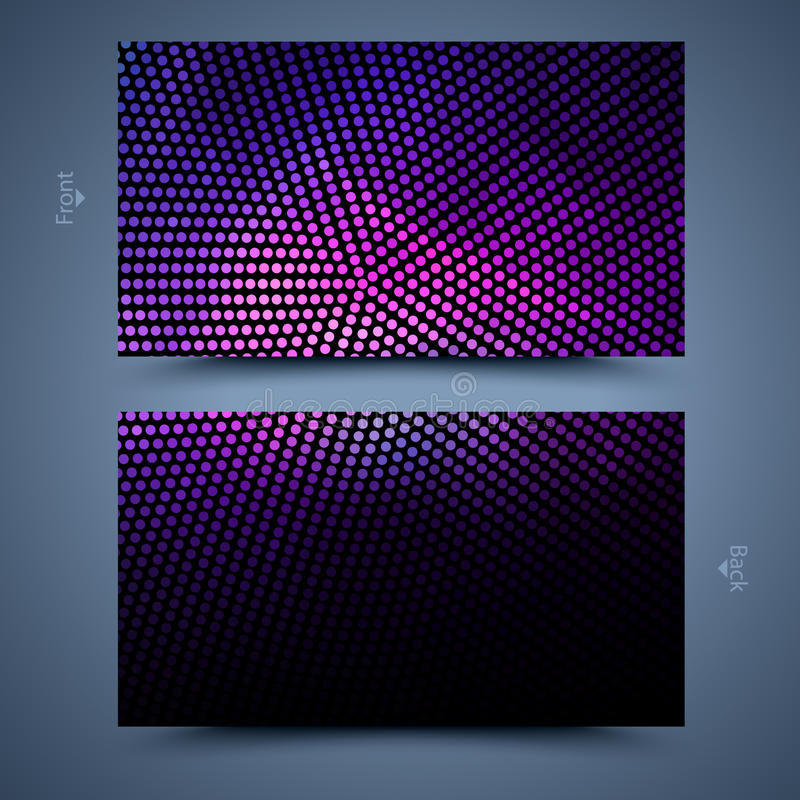 Business card template. Abstract background. Front and back royalty free illustration