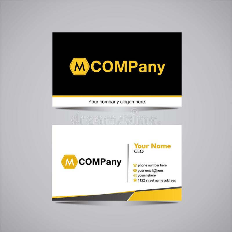 Business Card template 6 royalty free stock images