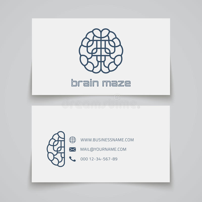 Business card template brain maze logo stock vector illustration download business card template brain maze logo stock vector illustration of background letterhead wajeb Gallery