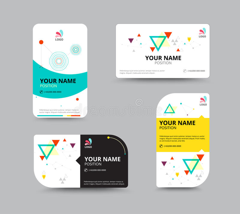 Business Card Template, Business Card Layout Design, Vector Illu ...