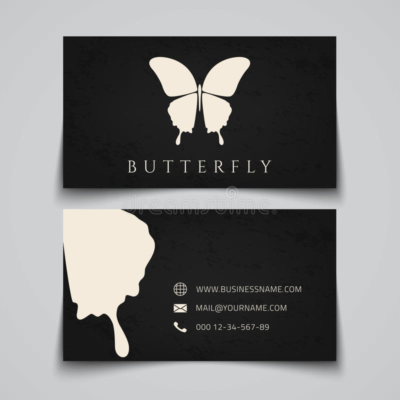 Business Card Template. Butterfly Logo Stock Vector - Illustration ...