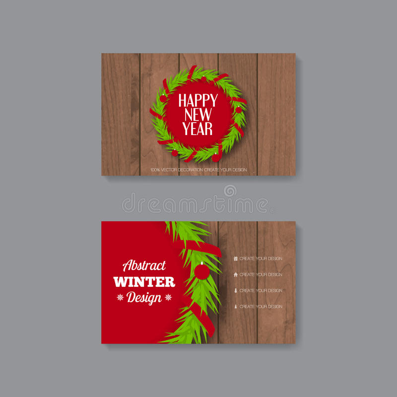 Business card template with christmas wreath stock vector download business card template with christmas wreath stock vector illustration of marketing abstract flashek Gallery