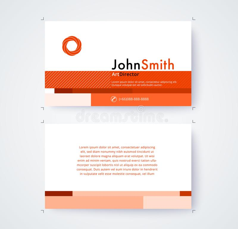 Business Card Template For Commercial Design On White Background ...