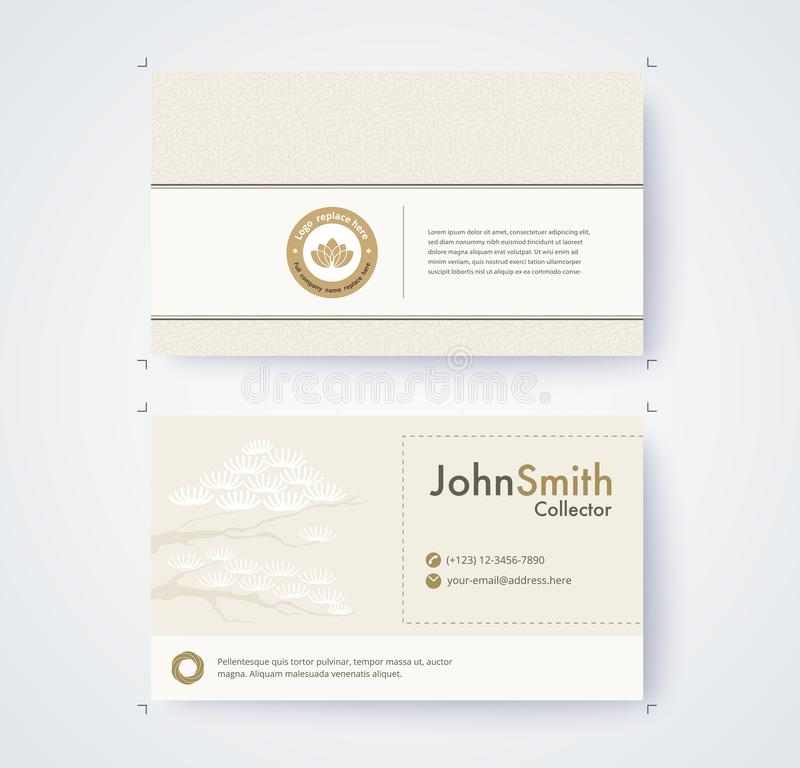 Business card template for commercial design on white background vector illustration