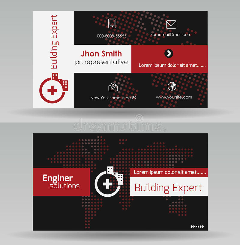 Business Card Template stock vector. Illustration of information ...