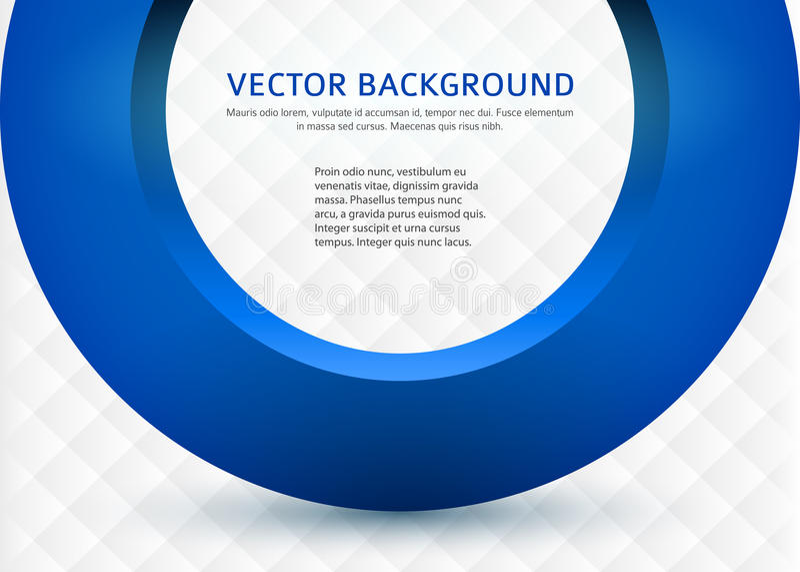 Business-card-template-3d-blue-circle иллюстрация штока