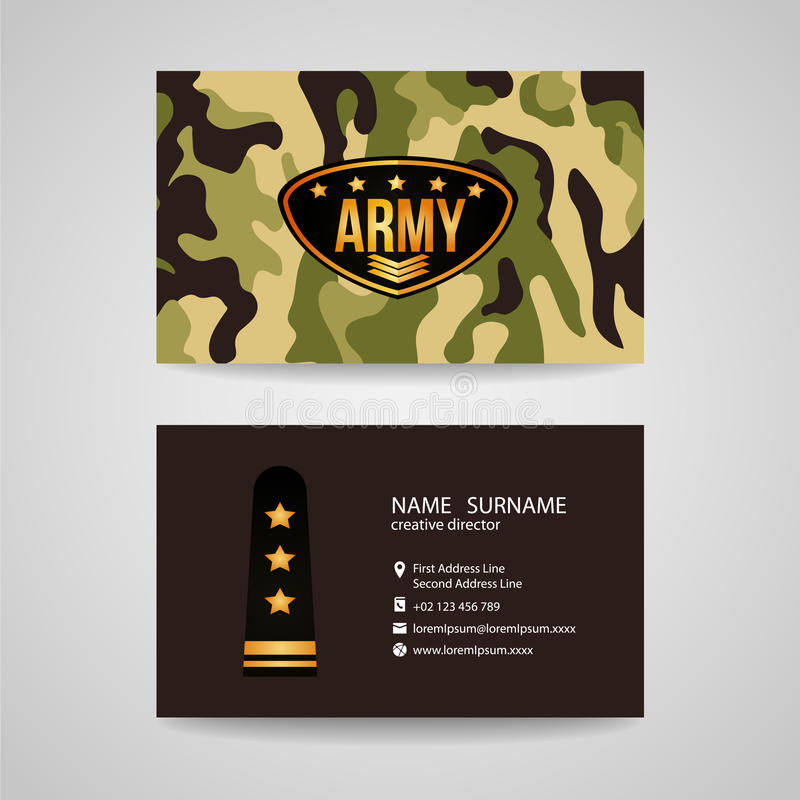 Business card template design for army and soldier texture stock download business card template design for army and soldier texture stock vector illustration of design toneelgroepblik Choice Image