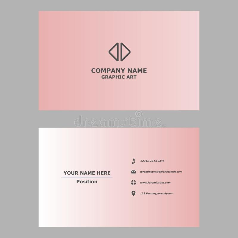 Modern business card.clean design template for professional,personal and company. stock photography