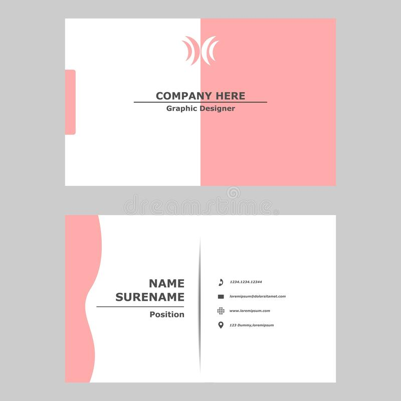 Business card template design concept.Illustration of vector graphic card .modern,simple and clean style design for professional c vector illustration