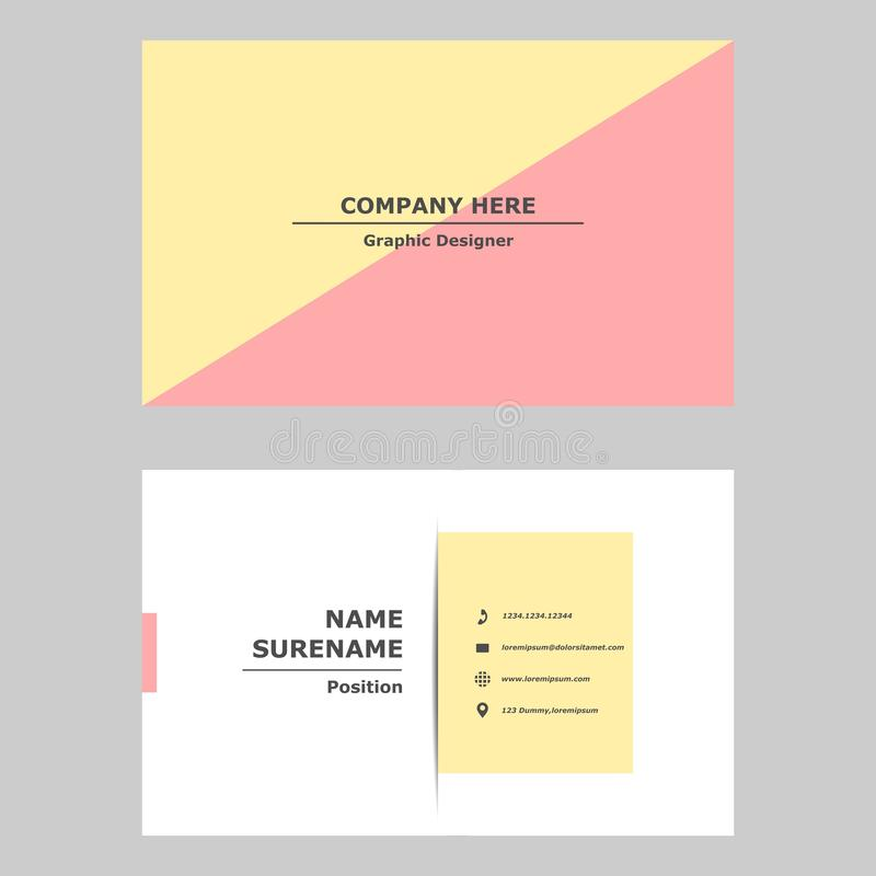 Business card template design concept.Illustration of vector graphic card .modern,simple and clean style design for professional c royalty free illustration