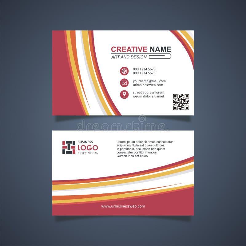 Business Card Template Design, trendig und modern vektor abbildung
