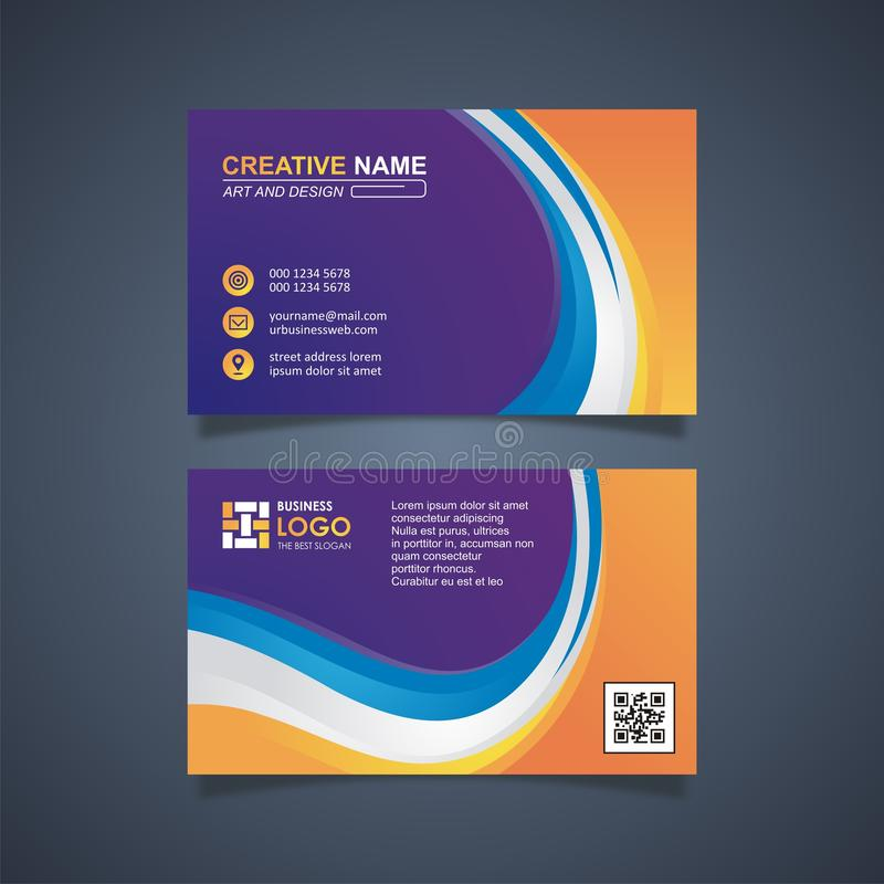 Business Card Template Design, trendig und modern lizenzfreie abbildung