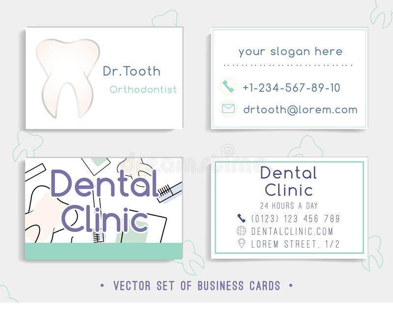 Business Card Template Design For Your Dental Clinic Stock Vector ...