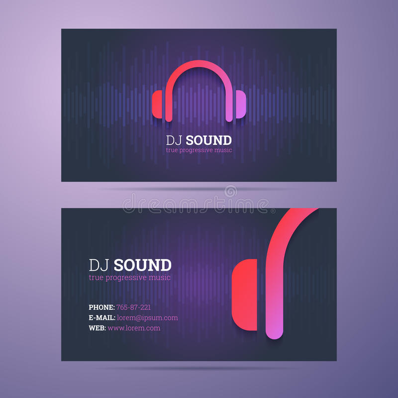 Business Card Template Stock Vector Illustration Of Presentation