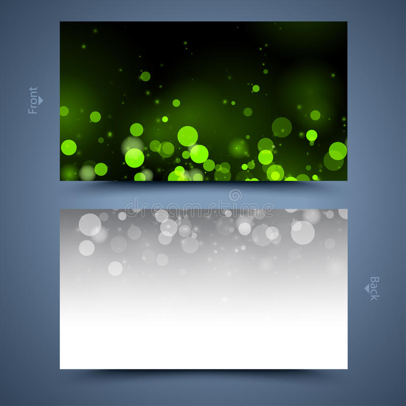 Green Business Card Template. Abstract Background Stock Vector ...