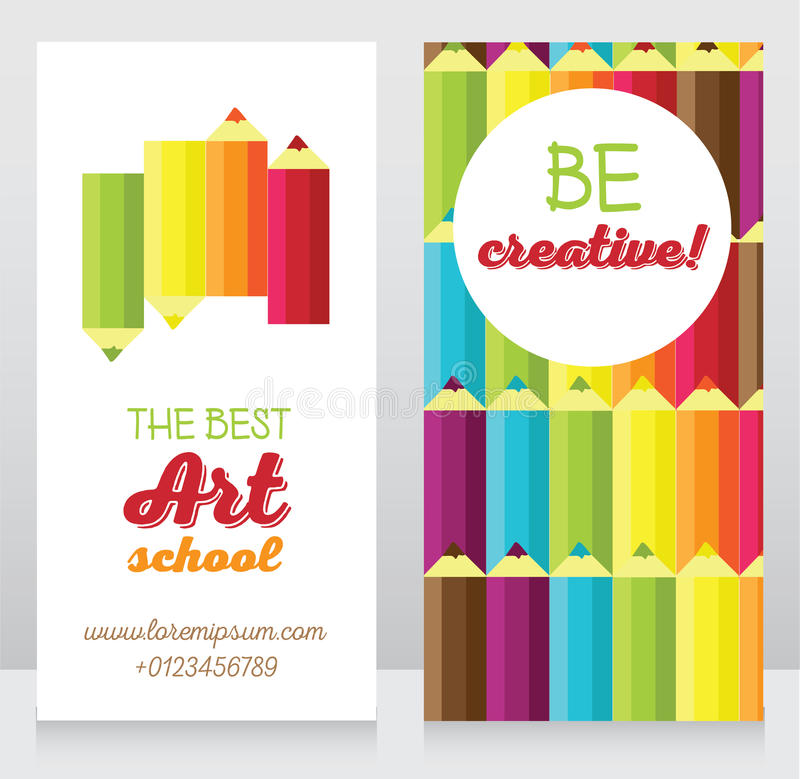 Business Card Template For Graphic Designer Or Creative Agency Stock ...