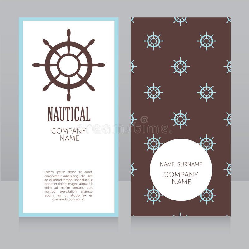 Business Card Template In Nautical Style Stock Vector - Illustration ...