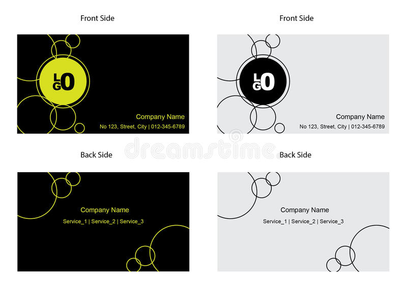 Business card template stock illustration illustration of market sample business cards with front and back design reheart Image collections
