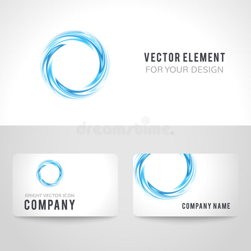 Business card template set abstract blue circle stock vector download business card template set abstract blue circle stock vector illustration of background friedricerecipe Choice Image