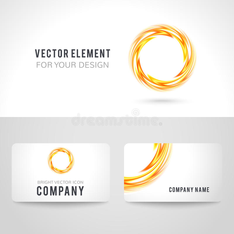 Business card template set abstract orange circle stock vector download business card template set abstract orange circle stock vector illustration of illustration wajeb Choice Image
