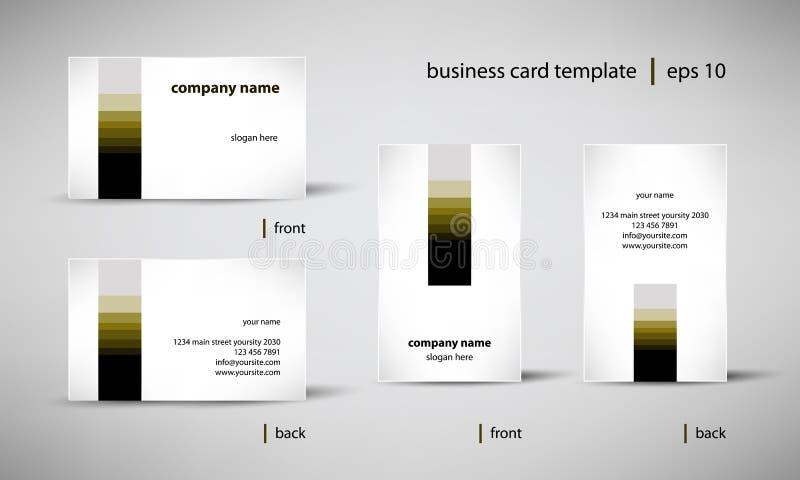 Business card template set vector illustration