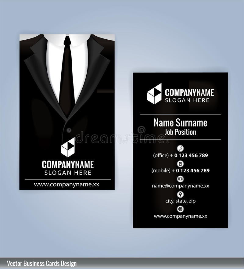 Business Card Template. Suits Background Stock Vector - Illustration ...