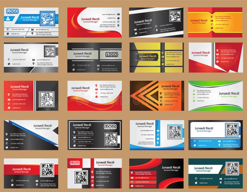 Business Card Template stock illustration