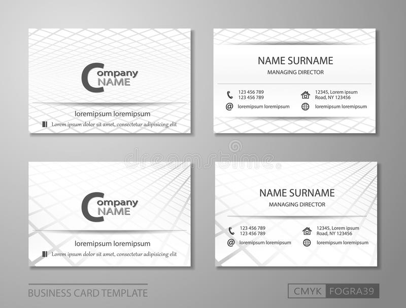 Business Card Template Vcard Set Performance In The Box Stock Vector ...