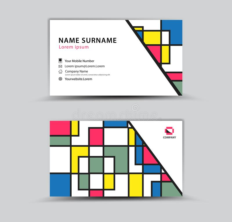 Business Card template, Creative idea modern concept royalty free illustration