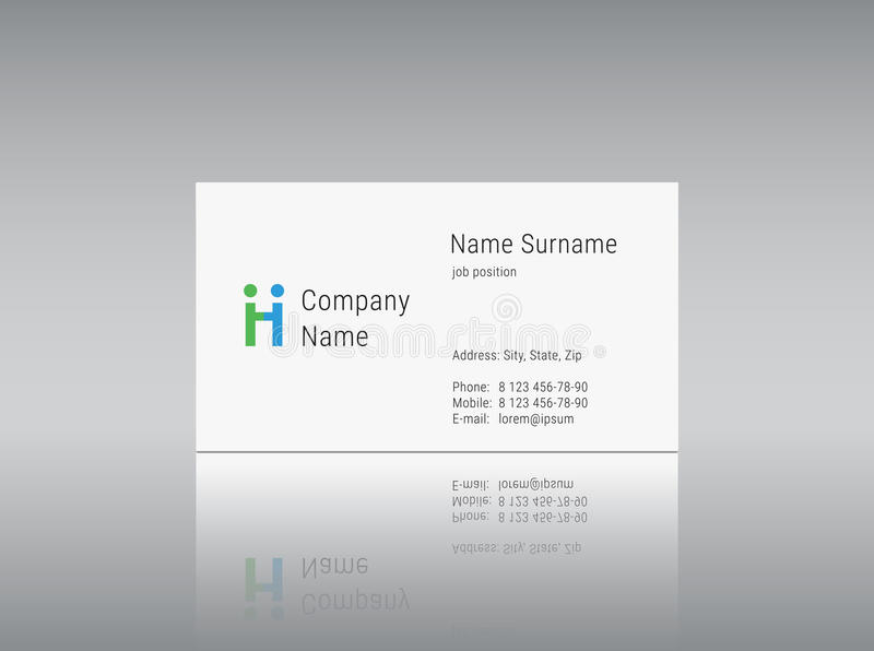 Business card template with vector logo alphabet letter h stock download business card template with vector logo alphabet letter h stock vector image 62462094 pronofoot35fo Gallery