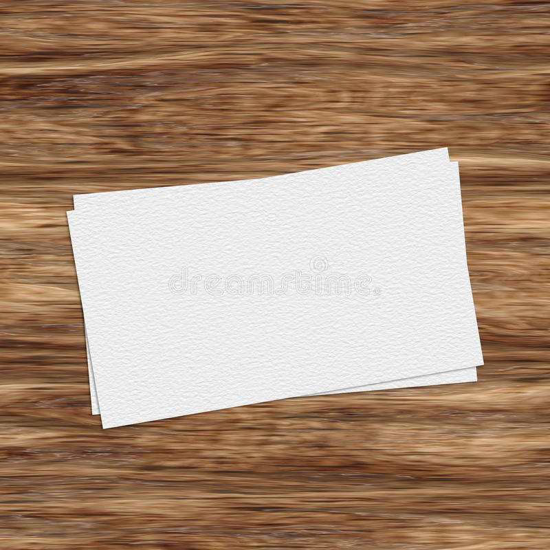 Business card template on wooden table vector illustration