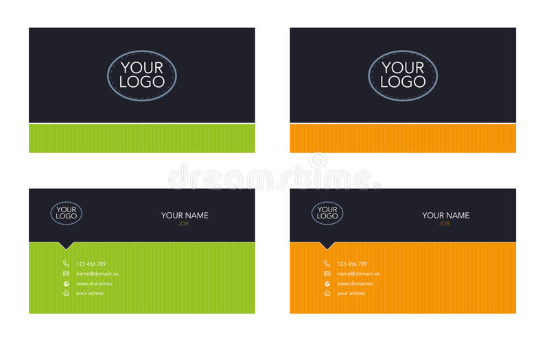 Business card template. For your company stock illustration