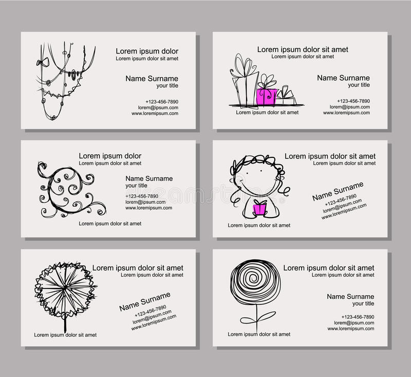 Business card template for your design royalty free illustration