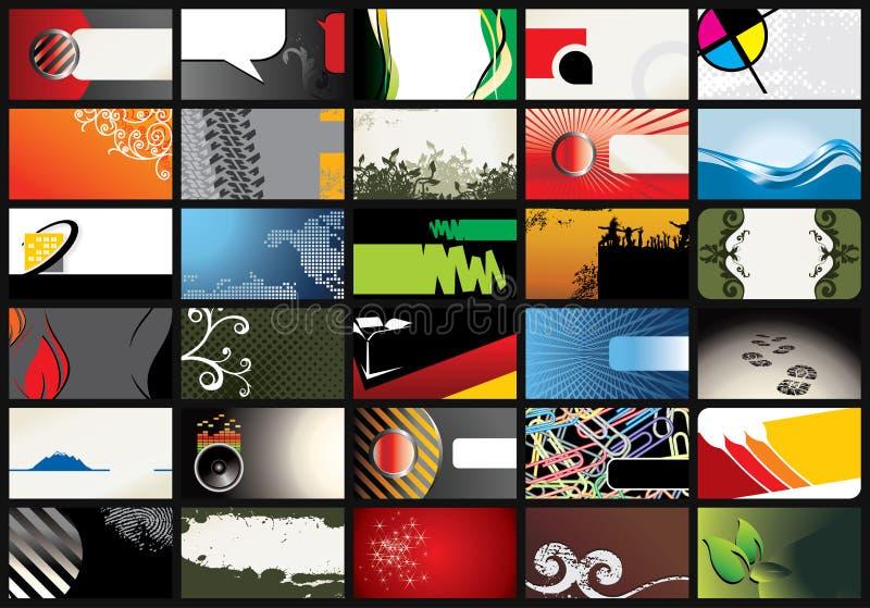Business card templates. Illustration