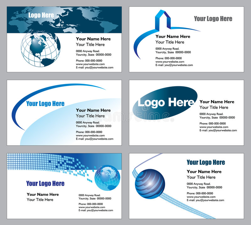 Business card templates stock images