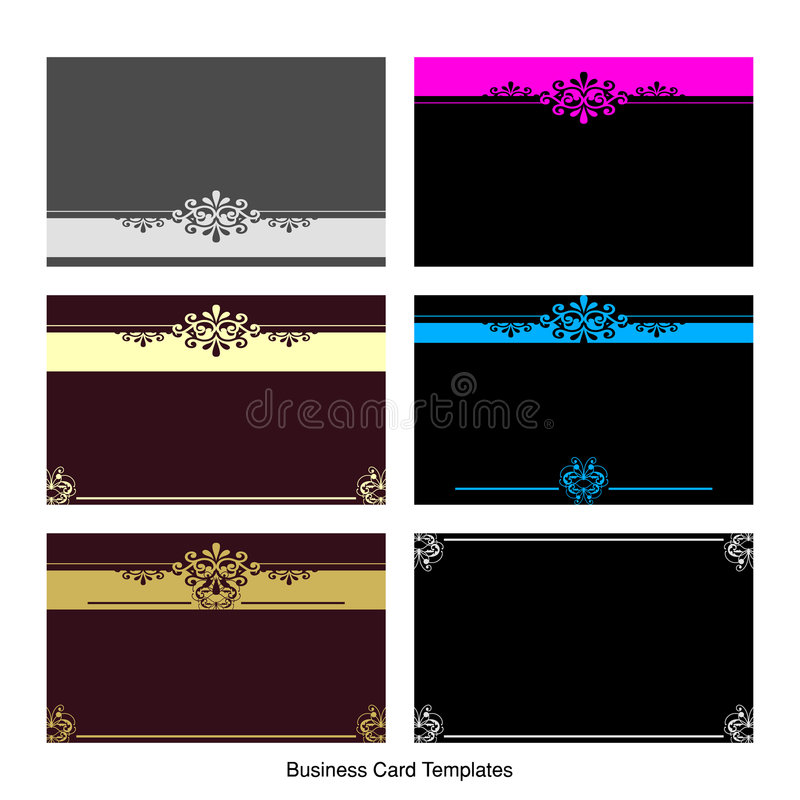 Business Card Templates royalty free illustration