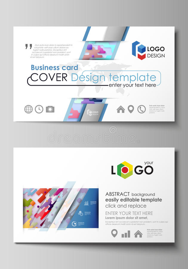 Business Card Templates. Abstract Vector Design Layouts. Bright ...