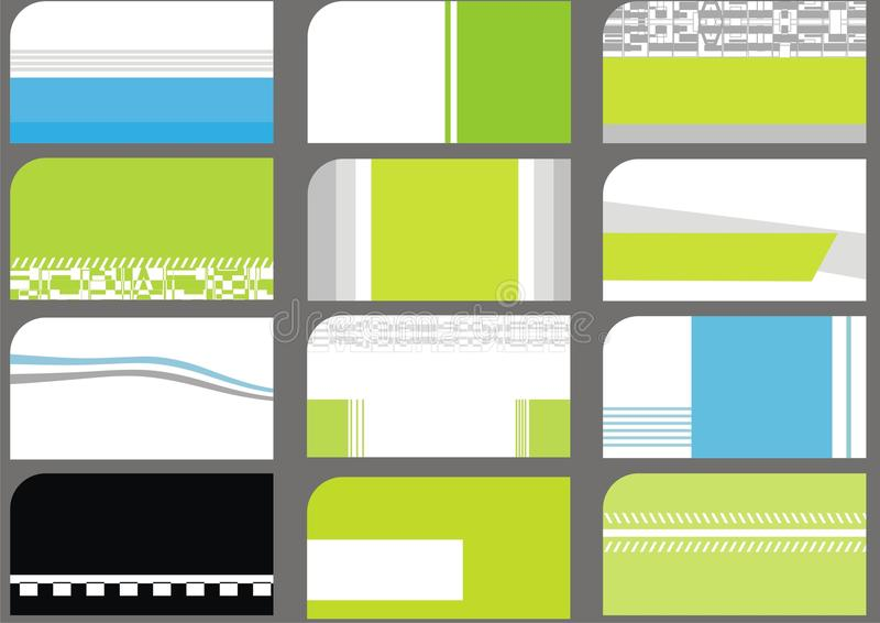 Business Card Templates Collection royalty free illustration
