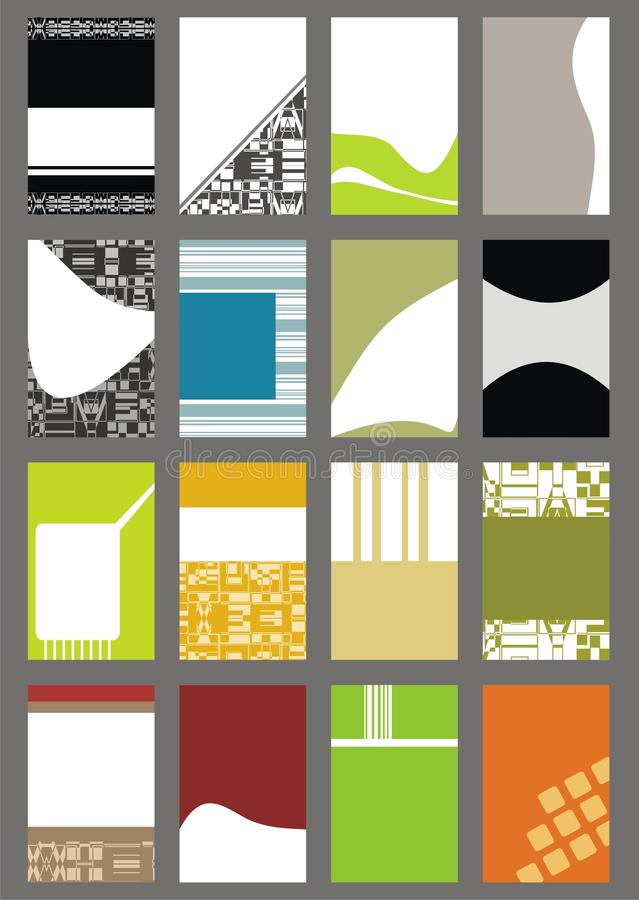 Business Card Templates Collection vector illustration
